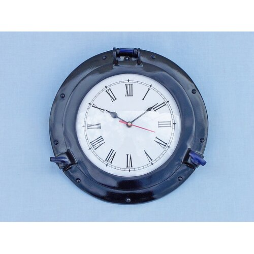 Deluxe Class Brass Porthole Clock