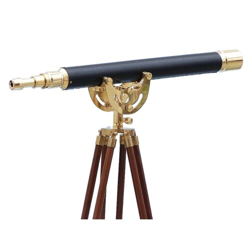 Floor Standing Leather Anchormaster Telescope