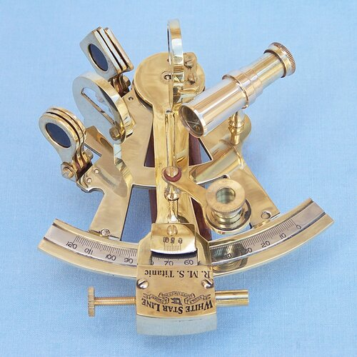 Handcrafted Model Ships Titanic Star Lines Sextant Sculpture