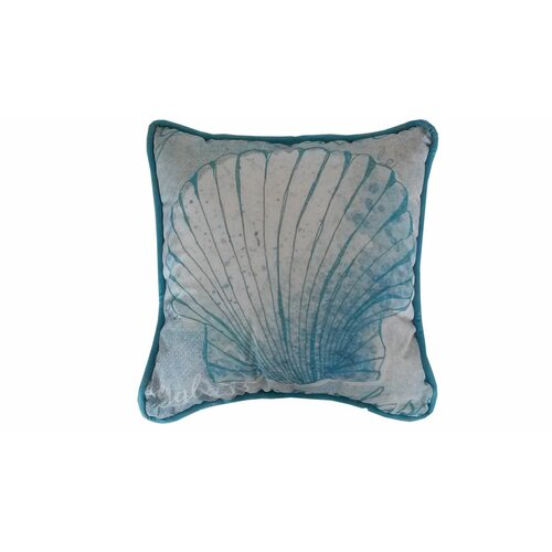 Handcrafted Nautical Decor Seashell Polyester Throw Pillow & Reviews Wayfair
