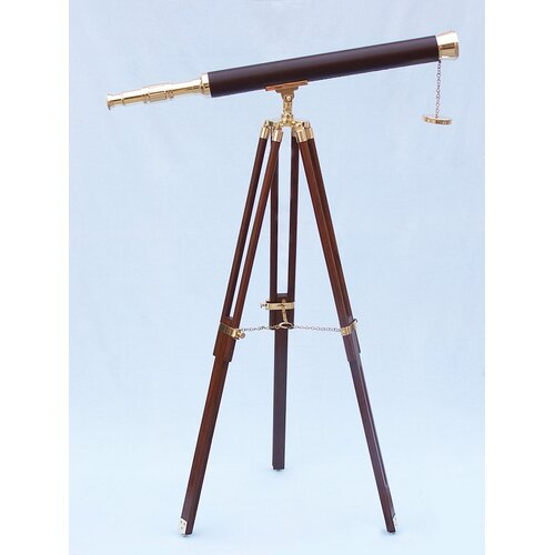 Floor Standing Leather Harbor Master Refractor Telescope