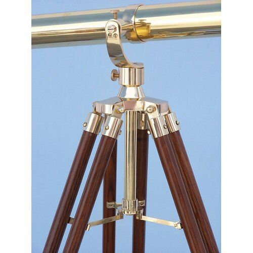 Handcrafted Model Ships Galileo Stand Refractor Telescope