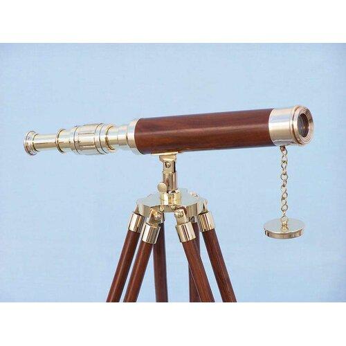 Handcrafted Model Ships Floor Standing Harbor Master Decorative Telescope
