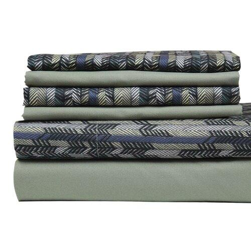 Texture Printed Stripe Sheet Set