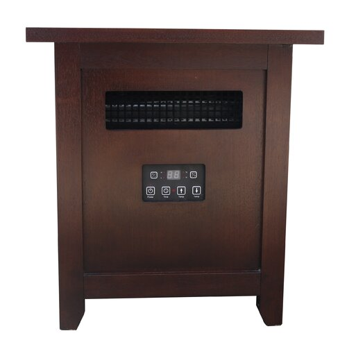 Shelby Place 6000 BTU 120 Volt End Table Infrared Heater with Remote Control