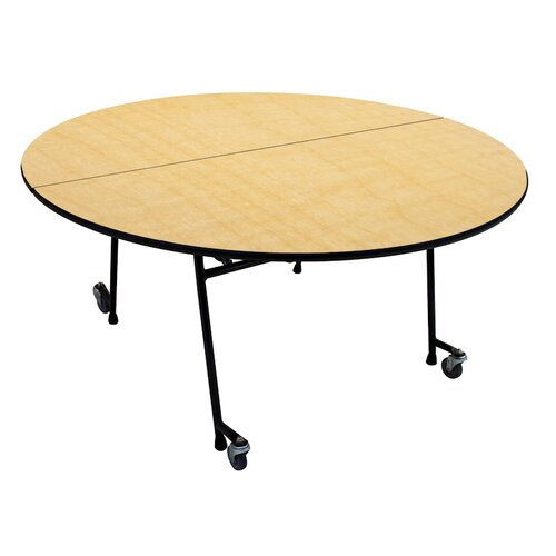 Mobile Folding Cafeteria Adjustable Height Round Table