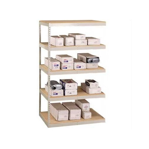 "Penco Double Rivet 120"" H 5 Shelf Shelving Unit Add-on"