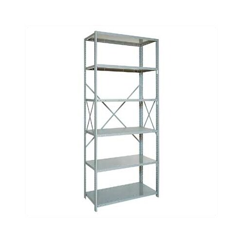 "Penco Open Clipper Basic 87"" H 6Shelf Shelving Unit Starter"