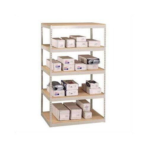 "Penco Double Rivet 120"" H 5 Shelf Shelving Unit Add-on"