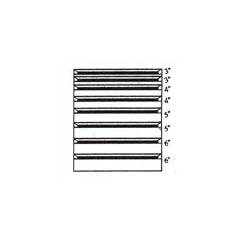 "Penco Clipper Specialty Shelving - Modular Drawer Kits for 36"" Wide Clipper Shelving - 8 Drawers"