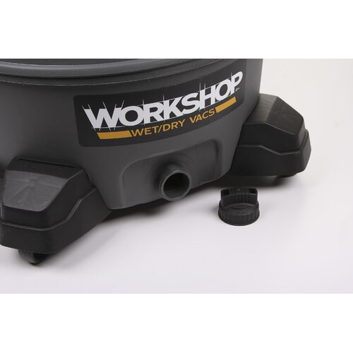 WORKSHOP Wet/Dry Vacs 14 Gallon 6.0 Peak HP High-Power Wet/Dry Vacuum