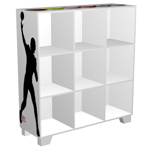 """My Owners Box CubeIts Sports 9 Cube 36"""" Bookcase"""