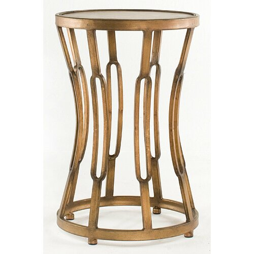 Dalton Home Collection Hourglass Table with Metal Top Surface