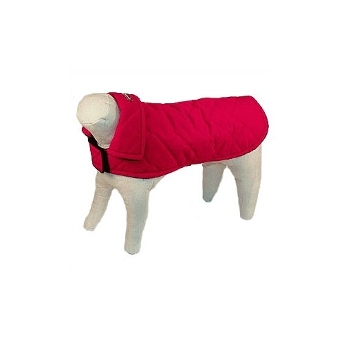 Quilted Nylon Dog Jacket in Red