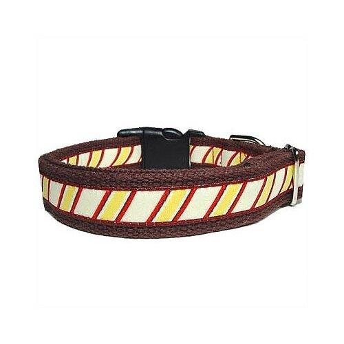 Repp Stripe Cotton Dog Collar