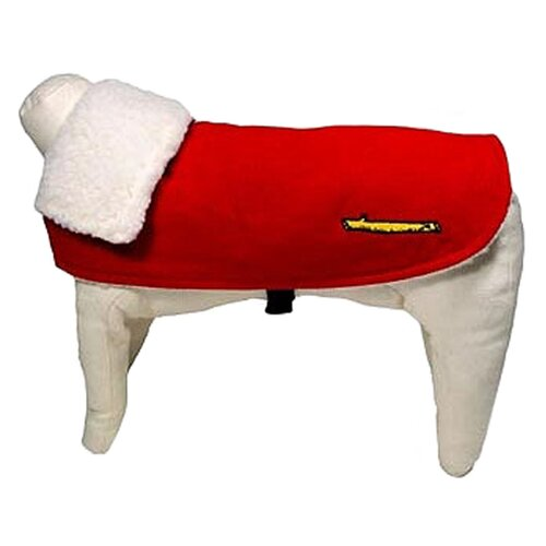 Corduroy Dog Car Coat in Red