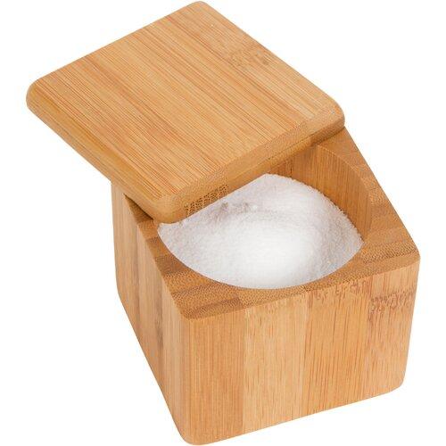 Bamboo Salt Box Kitchen Accessory (Set of 2)