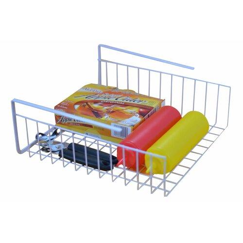 Above edge inc wire basket kitchen organizer for under shelf storage