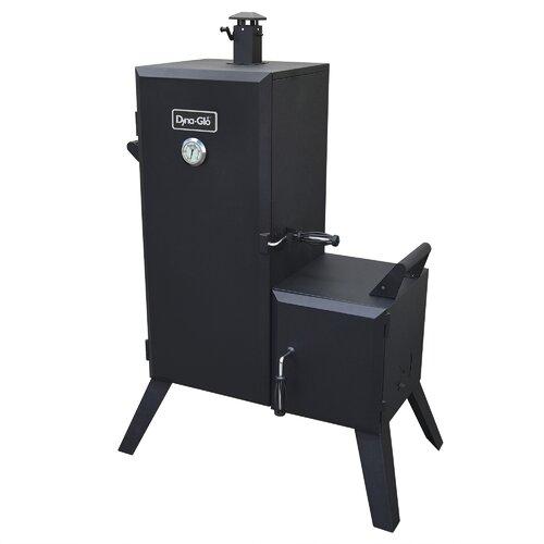 Double Door Vertical Charcoal Smoker with Adjustable Cook Grate