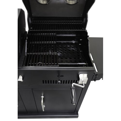 Dyna Glo 2 Burner Gas Grill With Adjustable Charcoal Tray