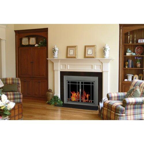 Pleasant hearth edinburg prairie cabinet style fireplace for Prairie style fireplace