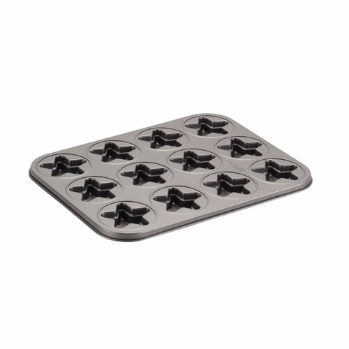 12-Cup Star Molded Cookie Pan