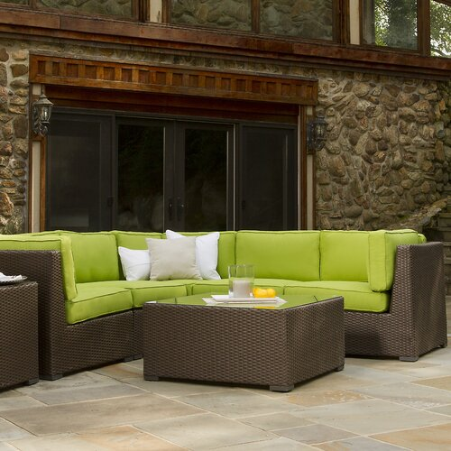 Sonoma Wicker 5 Pieces Sectional