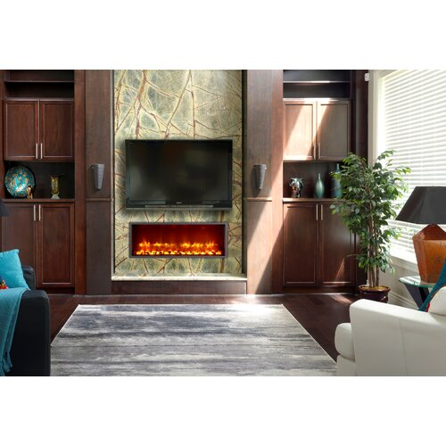 dynasty fireplaces 35 built in led electric fireplace