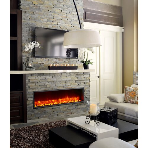 "Dynasty 55"" Built-in LED Electric Fireplace & Reviews 