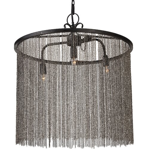 3 Light Drum Chandelier