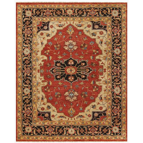 Ustad Red / Black Rug