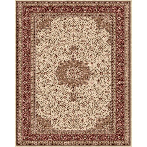 Daria Cream / Red Rug