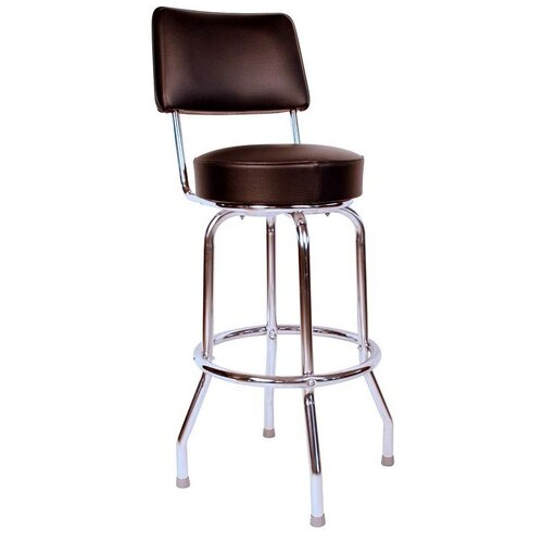 "Richardson Seating Retro Home 24"" Swivel Bar Stool with Cusion"