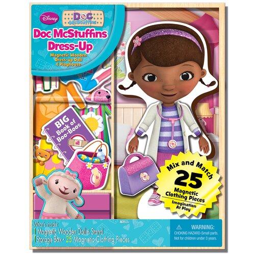 Doc McStuffins Magnetic Wooden 25 Piece Doll Set