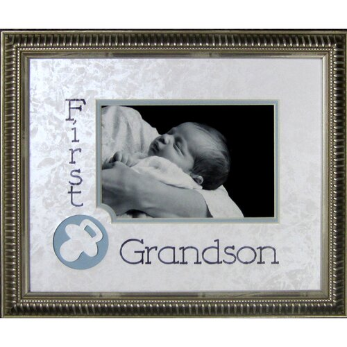 First Grandson Frame Photographic Print