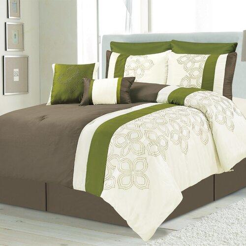 Lavina 8 Piece Queen Comforter Set