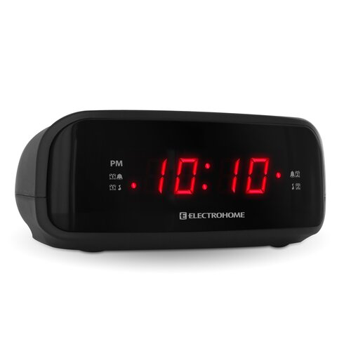 Electrohome Digital AM/FM Clock Radio with Battery Backup & Dual Alarm (EAAC200)