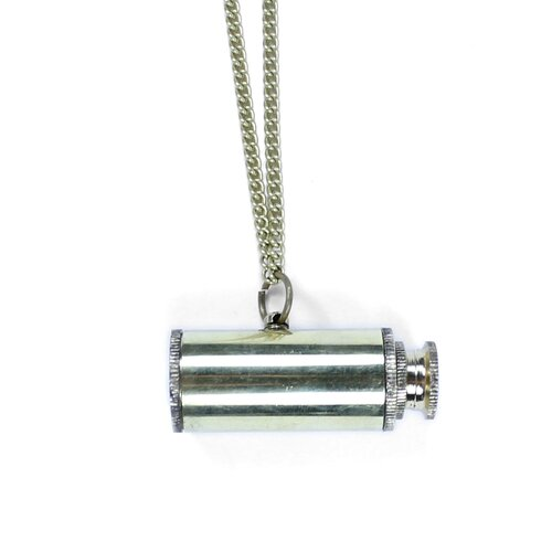 Jordan and Taylor Voyager Working Mini Telescope Necklace