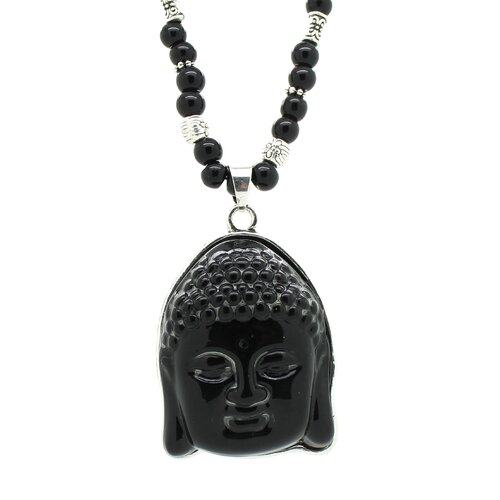 Buddha Beaded Pendant Necklace