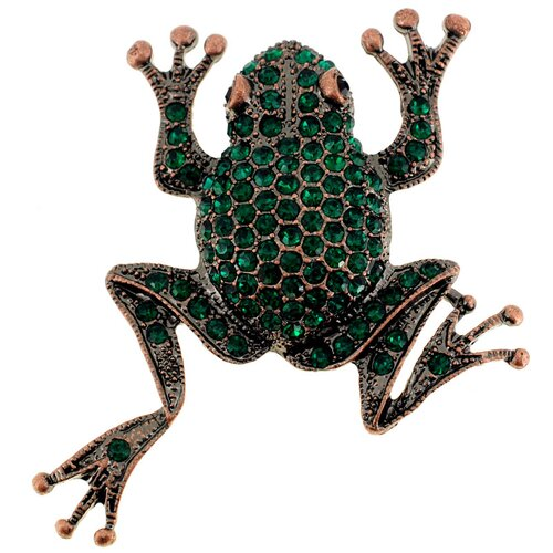 Fantasyard Baby Frog Animal Crystal Brooch