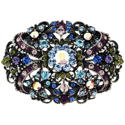 Flower Perovskia Crystal Pin Brooch Pendant