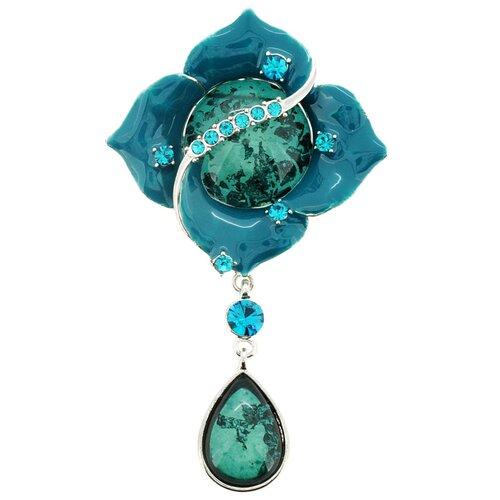 Wedding Flower Crystal Brooch Pendant