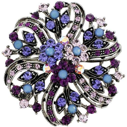 Flower Wedding Perovskia Crystal Brooch Pendant