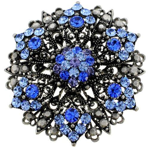 Flower Bridal Wedding Perovskia Crystal Brooch Pendant