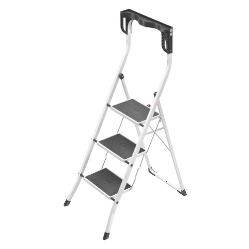 Hailo LLC Safety Plus 3-Step Step Ladder