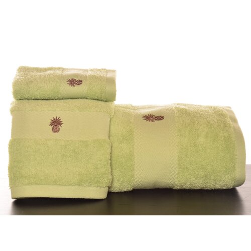 Tommy Bahama Bedding Embroidered Pineapple 3 Piece Towel Set