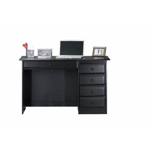 Coastal Computer Desk with Single Pedestal