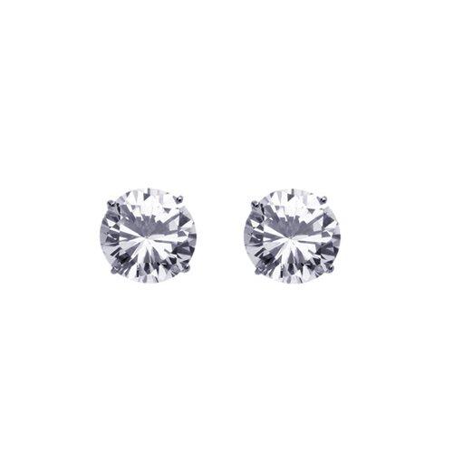 14K Round Cut Cubic Zirconia Stud Earrings