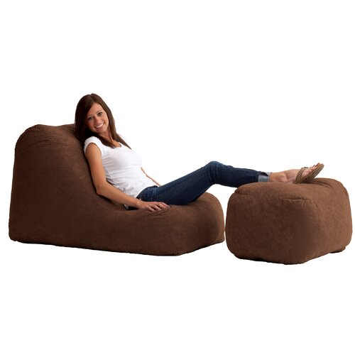 Fuf Bean Bag Wedge and Ottoman