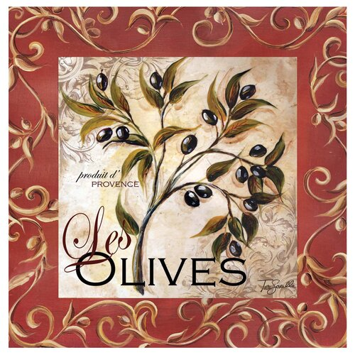 Olive Scroll Occasions Coasters Set (Set of 4)